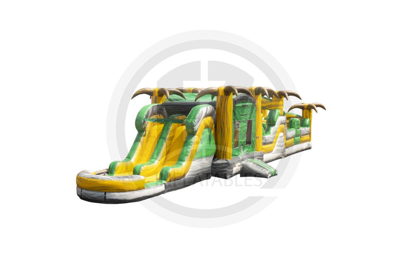 63 Ft Desert Oasis Obstacle Course-I1080-EZ Inflatables (1438365646890)