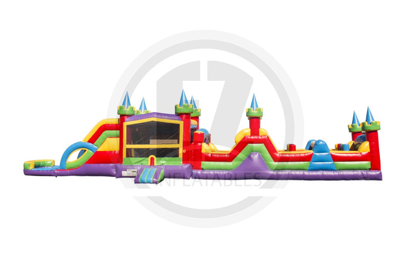 63 FT Lucky Sibling Obstacle Course-I1056-EZ Inflatables (1438367121450)