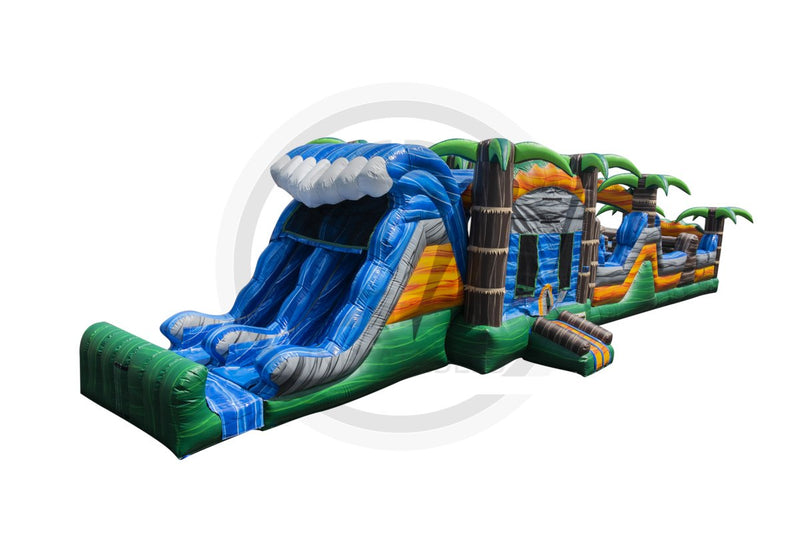 63 Ft Monsoon Madness Obstacle Course-I1103-EZ Inflatables