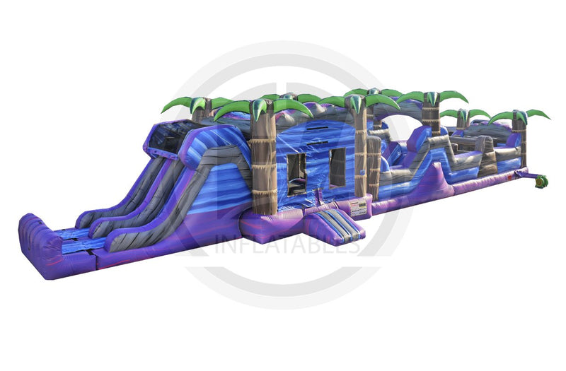 63Ft. Purple Crush Obstacle Course-I1028-EZ Inflatables (1360787701802)