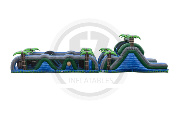 70 Ft Blue Crush Obstacle Course-I1112-EZ Inflatables