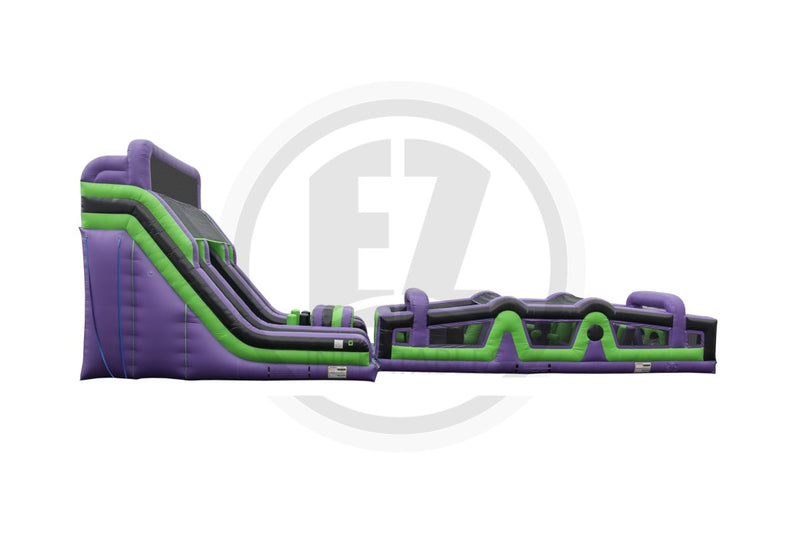 70 Ft Crazed Barrier Obstacle Course-I1128-EZ Inflatables