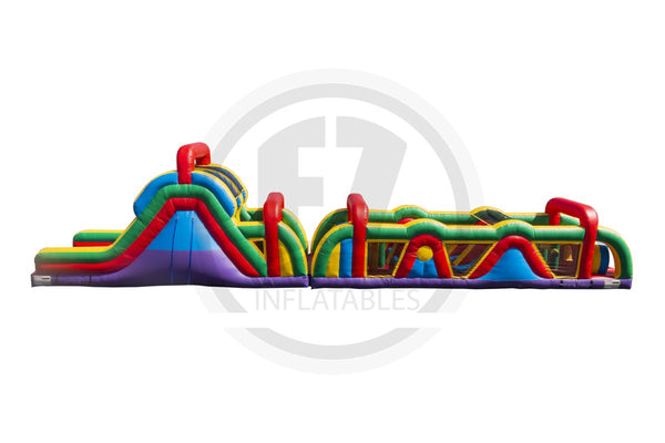 70 Ft Rainbow Run Obstacle Course-I1110-EZ Inflatables