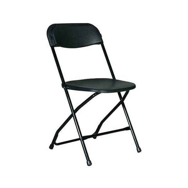 Plastic Folding Black Chair (10 Pc Pack) - Adult