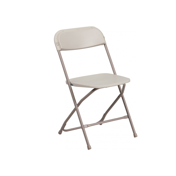 Plastic Folding Beige Chair (10 Pc Pack) - Adult
