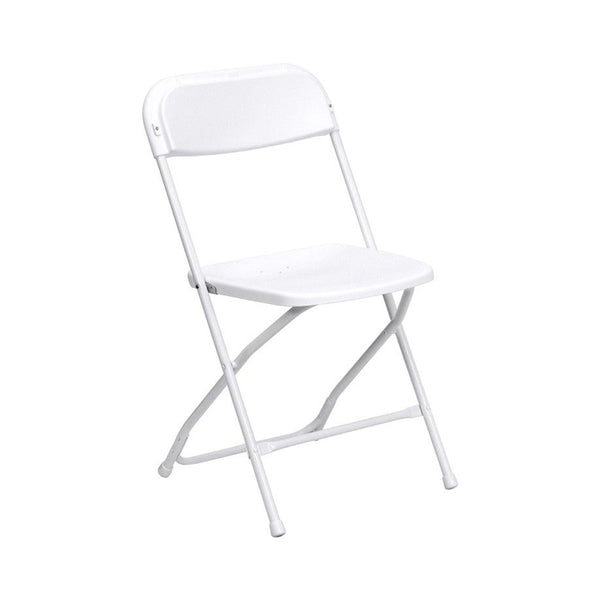 Plastic Folding White Chair (10 Pc Pack) - Adult
