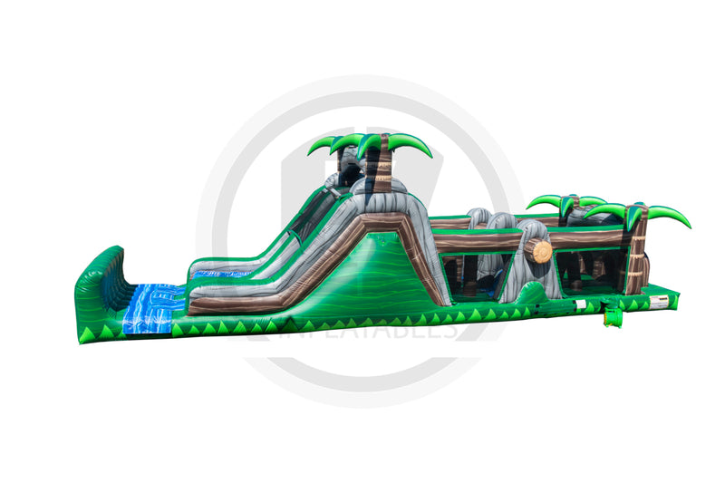 47 Ft Congo Rainforest Wet/Dry Obstacle Course-I1114
