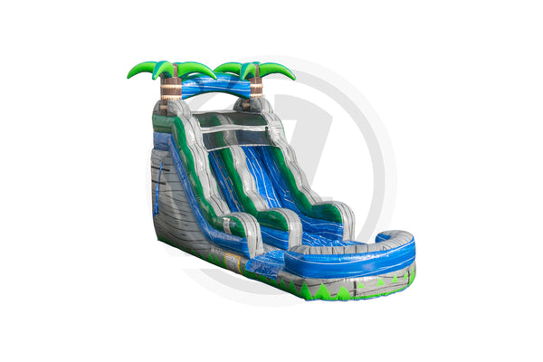 15 Ft Cascade Crush Water Slide-WS1124