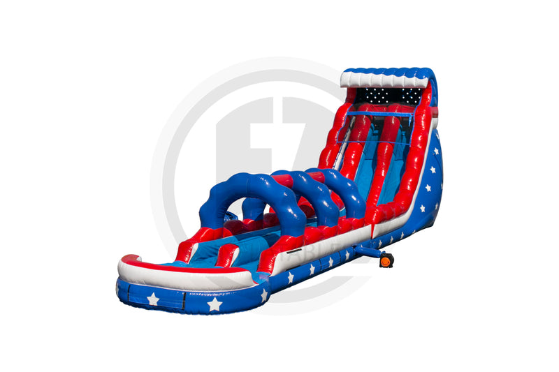 22 Ft Stars & Stripes + Slip & Slide-WS1429