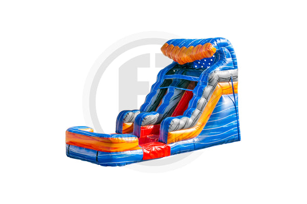 12 Ft Fireblast Tsunami Water Slide-WS1479