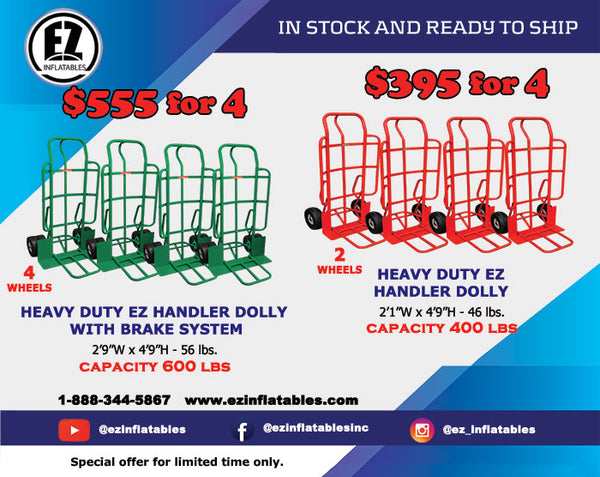 Heavy Duty EZ Handler Dolly Pack 4