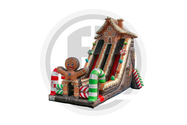 Gingerbread House Slide-S1036-EZ Inflatables