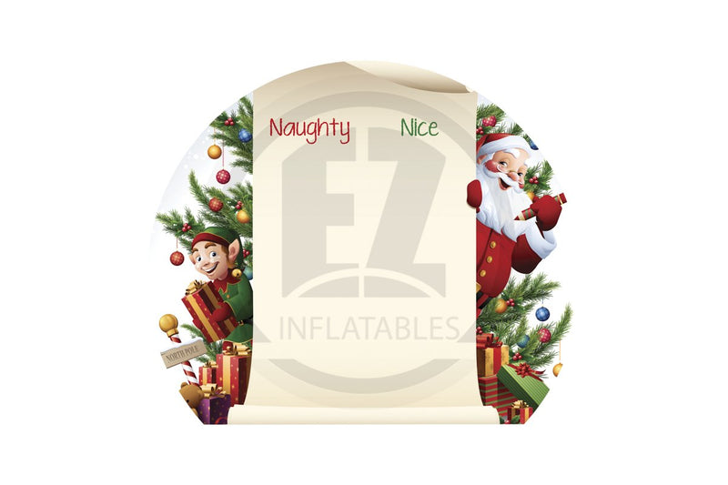 Globe Christmas Banner-IB145-EZ Inflatables