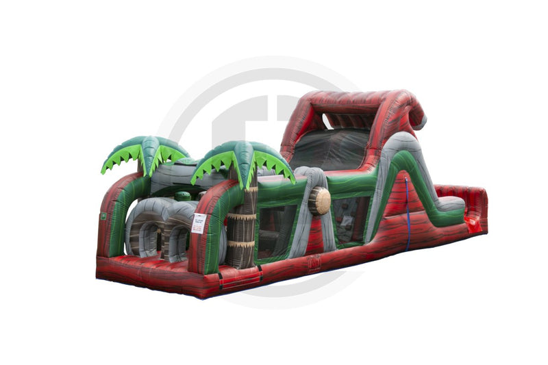 Ruby River Run Obstacle Course-I1146-EZ Inflatables