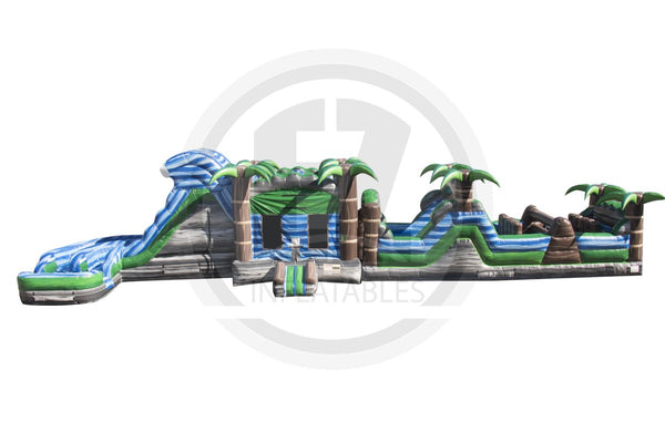 Tropical Rapids Obstacle Course-I1057-EZ Inflatables (1360788193322)