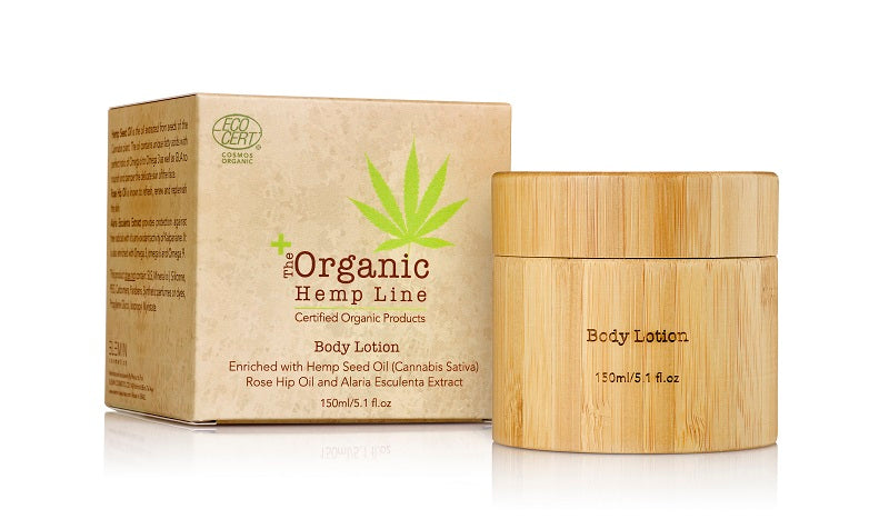Organic BODY LOTION with Hemp Seed Oil, Rose Hip Oil and Alaria Esculenta Extract