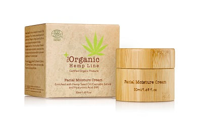 Organic FACIAL MOISTURE CREAM with Hemp Seed Oil and Hyaluronic Acid