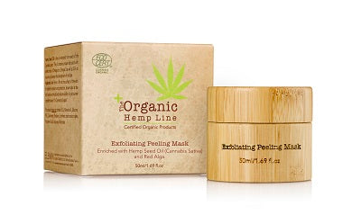 Organic Exfoliating PEELING MASK with Hemp Seed Oil and Red Alga
