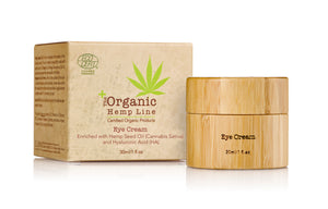 Organic EYE CREAM with Hemp Seed Oil and Hyaluronic Acid