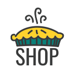 Pie logo with shop underneath