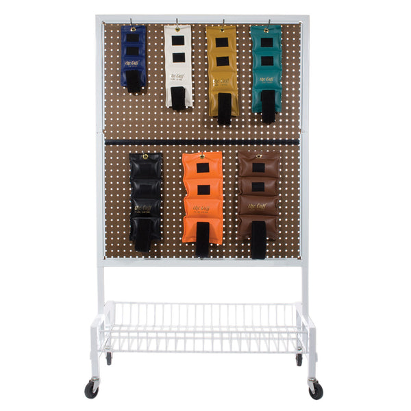 2 Sided Mobile Weight Storage Cart