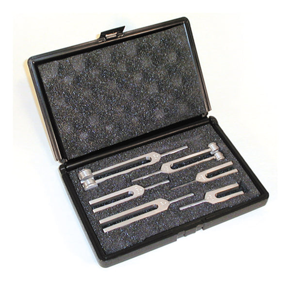 6 Piece Tuning Forks Set with Case