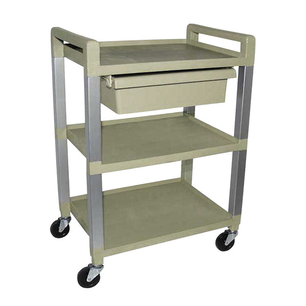 3 Shelf Poly Utility Cart