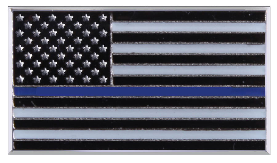 Thin Blue Line Flag Lapel Tie Tack Pin