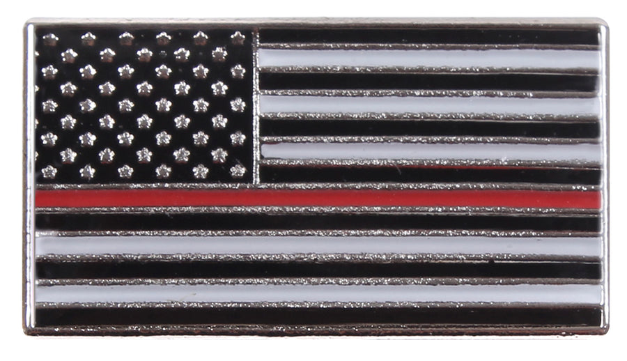 Thin RED Line Flag Lapel Tie Tack Pin