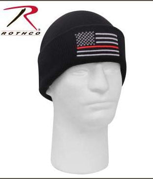 ROTHCO Thin RED Line Flag Winter Watch Hat