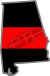 "5"" Alabama AL Thin Red Line State Sticker Decal"