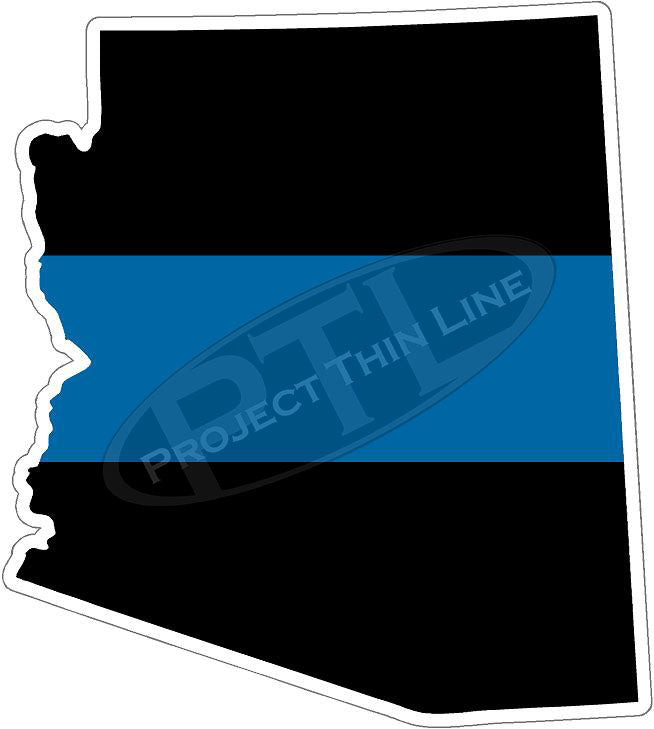 "5"" Arizona AZ Thin Blue Line State Sticker Decal"