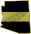 "5"" Arizona AZ Thin Gold Line State Sticker Decal"