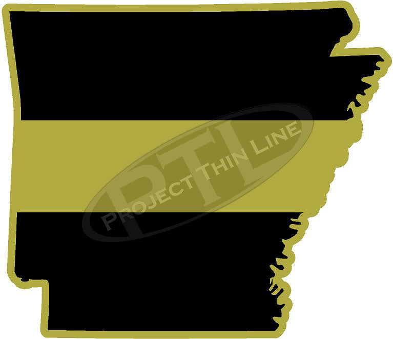 "5"" Arkansas AR Thin Gold Line State Sticker Decal"