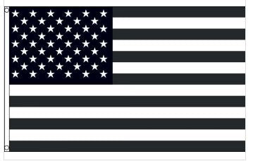 3' x 5' Subdued - Tactical - Black and White - American Flag