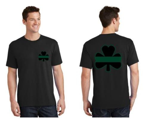 Thin GREEN Line Shamrock Short Sleeve Shirt