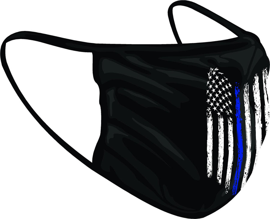 Find Your Line - Tattered American Flag Face Shield