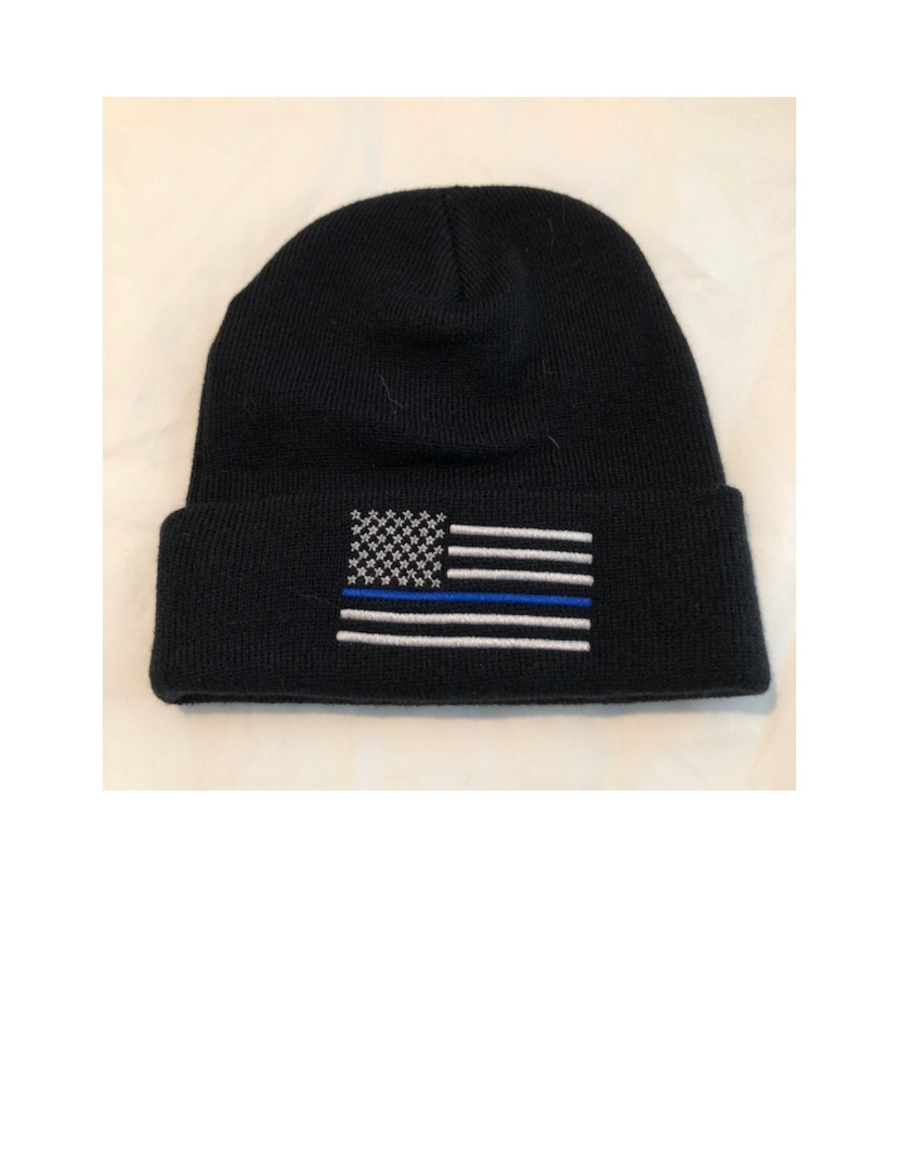 bdc9df1d18d Thin BLUE Line American Flag Winter Watch Hat - Project Thin Line