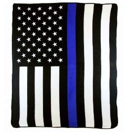 Thin Blue Line Flag Polar Fleece Blanket