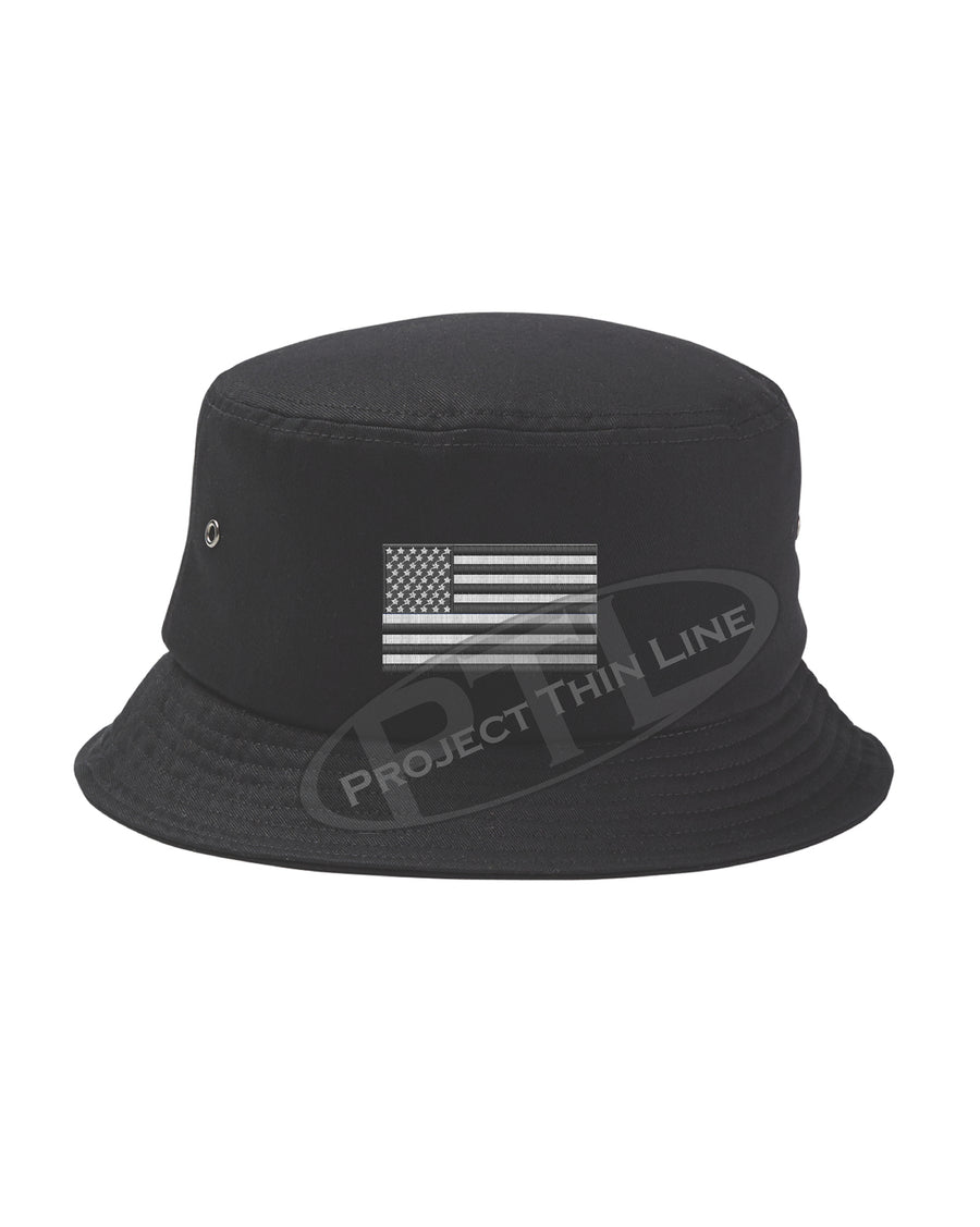 Embroidered TACTICAL American Flag Bucket - Fisherman Hat