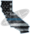 "5"" California CA Tattered Thin Blue Line State Sticker Decal"