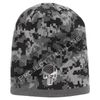 BLACK Camo with Thin Pink Line Punisher Skull inlayed subdued American Flag