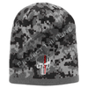 BLACK Camo with Thin Red Line Punisher Skull inlayed subdued American Flag