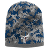 Blue Camo with Thin Blue / Red Line Punisher Skull inlayed subdued American Flag