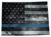 "5"" Colorado CO Tattered Thin Blue Line State Sticker Decal"