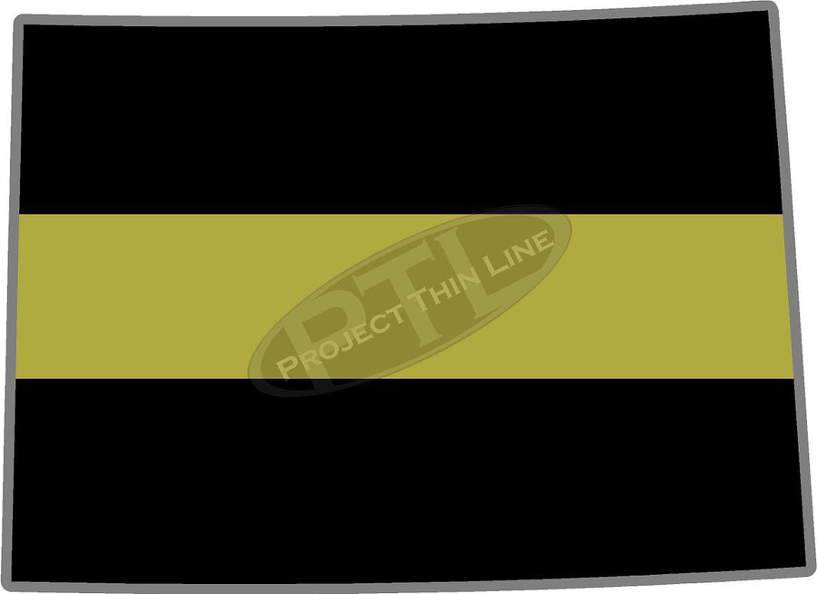 "5"" Colorado CO Thin Gold Line State Sticker Decal"
