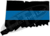 "5"" Connecticut CT Thin Blue Line State Sticker Decal"