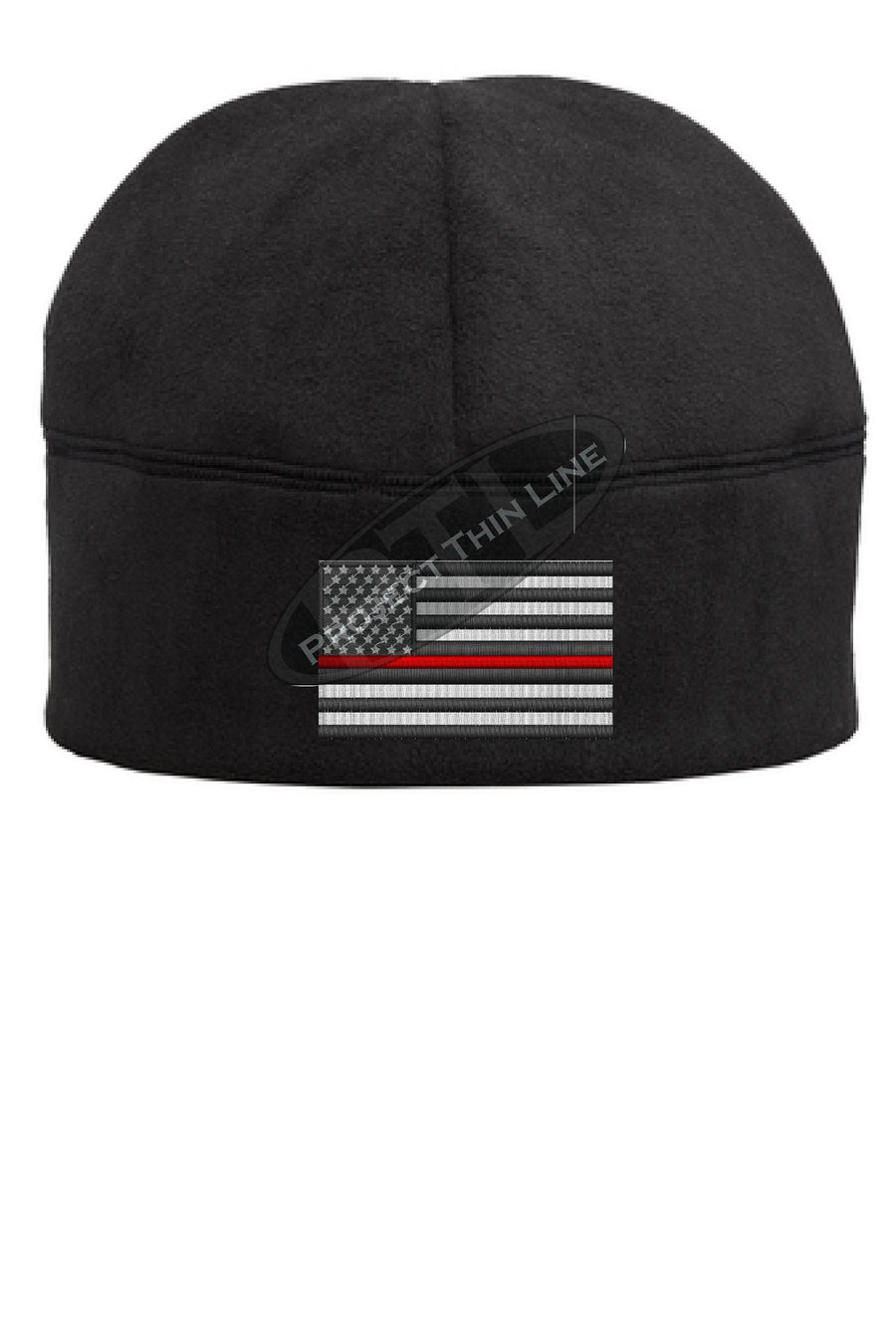 Thin RED Line Flag Fleece Beanie