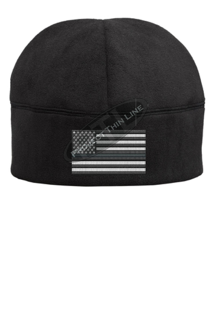 Thin GOLD Line Flag Fleece Beanie