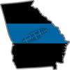 "5"" Georgia GA Thin Blue Line State Sticker Decal"